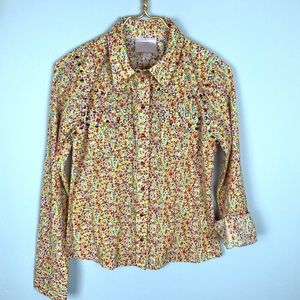 Romeo & Juliet Couture Floral Snaps Western Top M